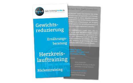 Flyer Personal Trainer Timo Kreuzer